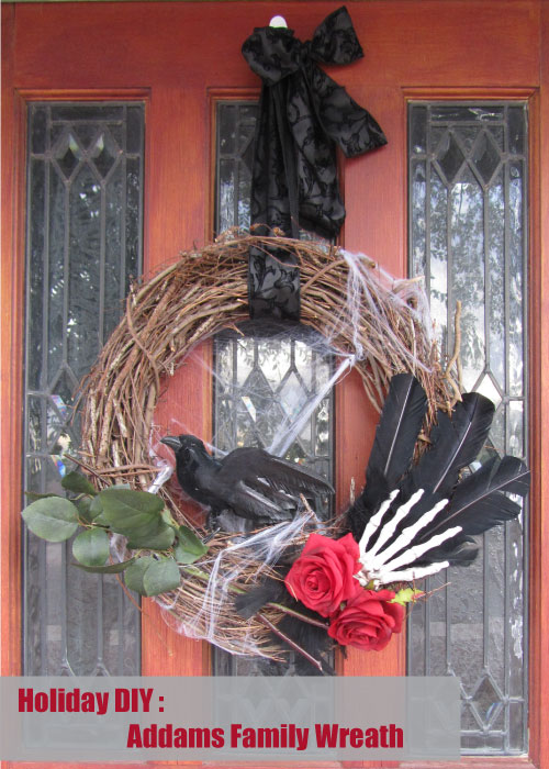 Holiday DIY - Addams Family Halloween Wreath