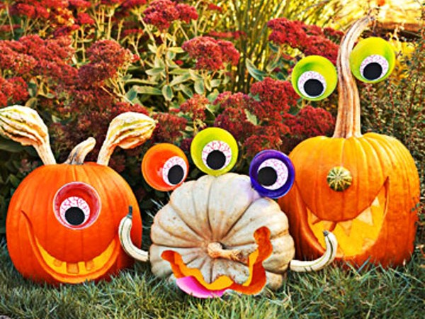 Holiday DIY - Pumpkin Decorating Roundup - Funny Monster Pumpkins
