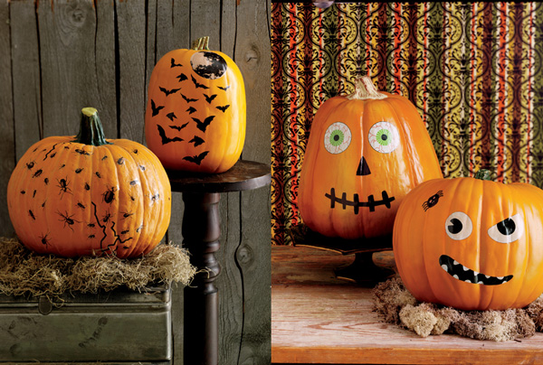 Holiday DIY - Pumpkin Decorating Roundup - No Carve Pumpkins