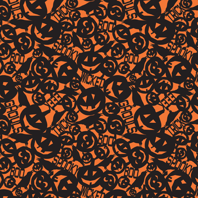 Wicked in Orange Large - Something Wicked This Way Comes by heather Dutton for Modern Yardage