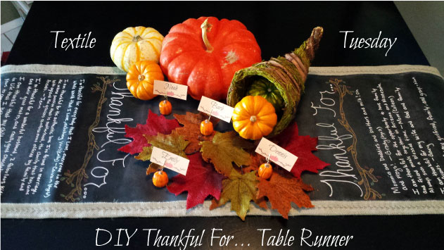 DIY Chalkkboard Thankful For Table Runner