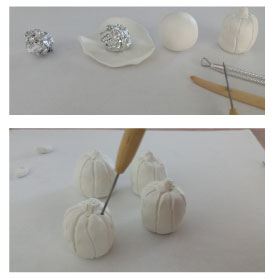 FINDS - Holiday DIY - Pumpkin Place Card Holders - Sculpting Your Pumpkins