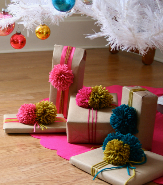 Pom Pom Gifts - FINDS Holiday Wrapping Roundup