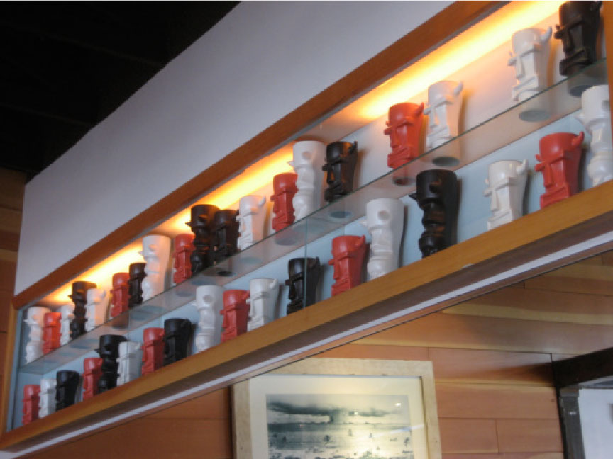 Hulas-Modern-Tiki-Mug-Display---FINDS-Blog---How-to-Display-a-Collection