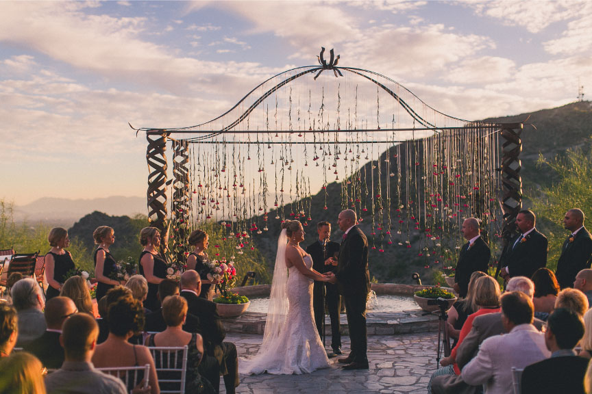 Custom Wedding Arch by Hoot & Holler