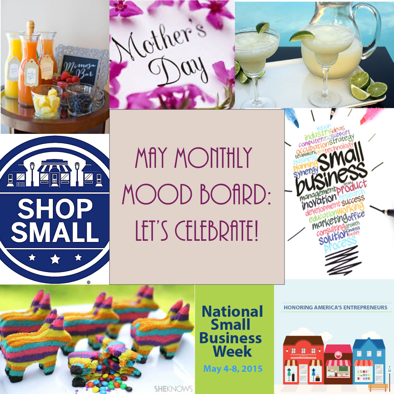 Let's Celebrate! - May Monthly Mood Board - F.I.N.D.S. Blog
