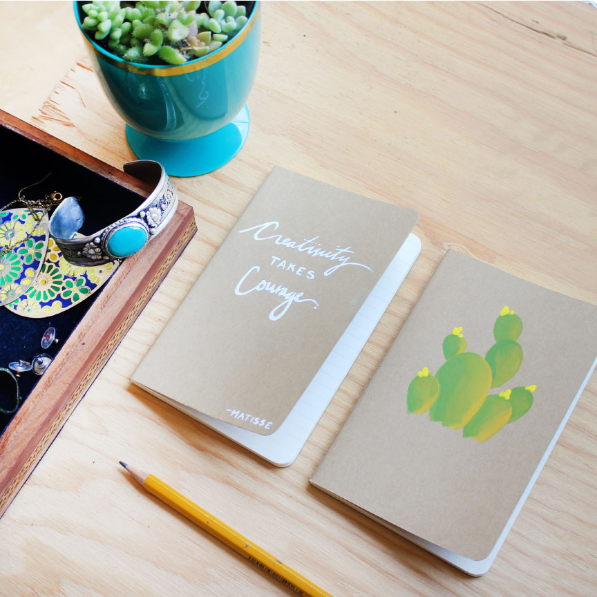 Paige Poppe Handprinted Notebooks