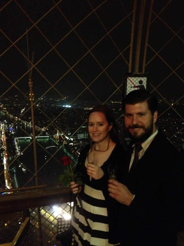 Eiffel Tower Engagement Photo - FINDS Blog - Studio Em Interiors