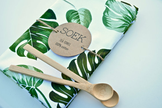 Tea Towel Monstera - Soekhq Etsy